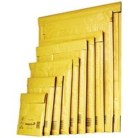 Mail Lite Bubble Lined Postal Bag, Gold, Assorted Sizes, Pack of 50