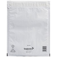 Mail Lite Tuff Bubble Lined Postal Bag Size G/4 240x330mm White (Pack of 50) 103015253