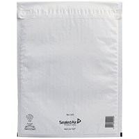 Mail Lite Tuff Bubble Lined Postal Bag Size H/5 270x360mm White (Pack of 50) 103015255