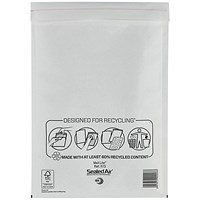 Mail Lite Bubble Lined Postal Bag / White / 220x330mm / Pack of 50