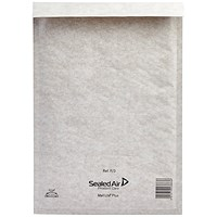 Mail Lite Plus Bubble Lined Postal Bag Size F/3 220x330mm Oyster White (Pack of 50) MLPF/3