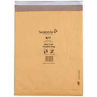 Mail Lite Padded Postal Bag Size K/7 365x476mm Gold (Pack of 50) 100943514