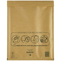 Mail Lite Bubble Lined Postal Bag, Gold, 270x360mm, Pack of 50