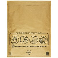 Mail Lite Bubble Lined Postal Bag, Gold, 350x470mm, Pack of 50