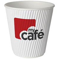 Mycafe 12oz Ripple Wall Hot Cups (Pack of 500) HVRWPA12V