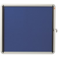 Nobo Internal Glazed Case Fabric Inner 6 x A4 Blue