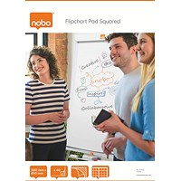 Nobo Squared Flipchart Pad A1 40 Sheet (Pack of 5)