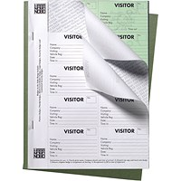 Nobo 25 Page Visitors Badge Slip Book