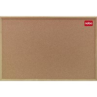 Nobo Classic Noticeboard, Cork, Natural Oak Finish, W1800xH1200mm