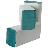 Leonardo 1-Ply M-Fold Hand Towel Green (Pack of 3000) HMG130