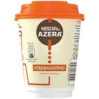 Nescafe & Go Azera Cappuccino Cups and Lids (Pack of 6)