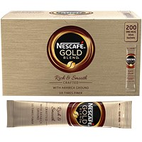Nescafe Gold Blend Instant Coffee Sachet Sticks - Pack of 200