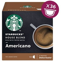 Dolce Gusto Starbucks House Americano (Pack of 36)