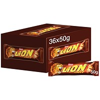 Nestle Lion Bar 50g (Pack of 36) 12220743