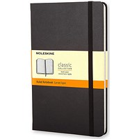 Moleskine Classic Notebook, Hard Cover, Large, Ruled, Black