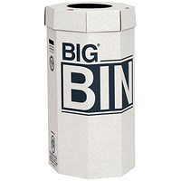 Acorn Large Bin, Flat Packed, Recycled Board, 160 Litres, Pack of 5
