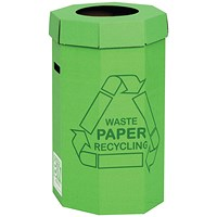 Acorn Green Bins for Recycling Waste, 60 Litre, Pack of 5