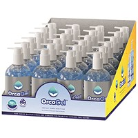 Orcagel Hand Sanitiser 250ml Pump 70% (Pack of 24) ORC034