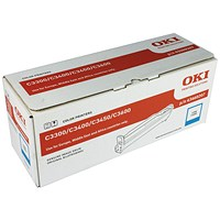 Oki C3300/C3400/C3450 Image Drum EP Cyan Cartridge 15K 43460207