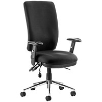 Chiro High Back Operator Chair, Black, Built