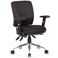 Chiro Medium Back Operator Chair, Black, Built