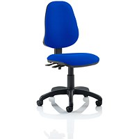 Eclipse II Lever Task Operator Chair, Blue, Built