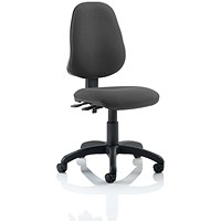 Eclipse II Lever Task Operator Chair, Charcoal, Built