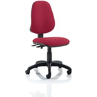 Eclipse II Lever Task Operator Chair, Wine, Built