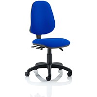Eclipse III Lever Task Operator Chair, Blue, Built