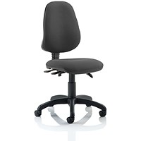 Eclipse III Lever Task Operator Chair, Charcoal, Built