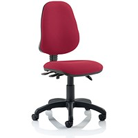 Eclipse III Lever Task Operator Chair, Wine, Built