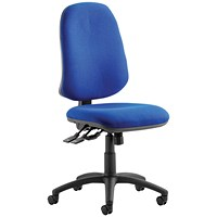 Eclipse XL III Lever Task Operator Chair, Blue, Built