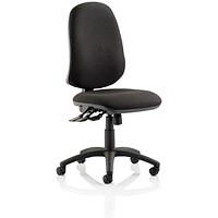 Eclipse XL III Lever Task Operator Chair, Black, Built