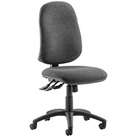 Eclipse XL III Lever Task Operator Chair, Charcoal, Built
