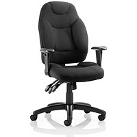 Galaxy Operator Chair, Black, Assembled