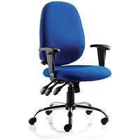 Lisbon Task Operator Chair with Arms, Blue, Built