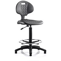 Malaga High Lab Chair / Black / Built