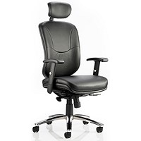 Mirage Leather Executive Chair - Black