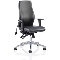 Onyx Ergo Leather Posture Chair, Black, Built