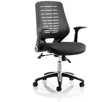 Relay Operator Chair, Airmesh Back, With Arms, Black, Built