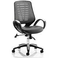 Sprint Leather Operator Chair - Silver Back