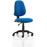 Eclipse I Lever Task Operator Chair, Blue, Built