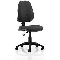 Eclipse I Lever Task Operator Chair, Charcoal, Built