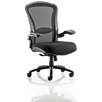 Houston Heavy Duty Task Operator Chair, Mesh Back, Fabric Seat, Black, Built