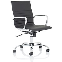 Nola Medium Executive Leather Chair - Black