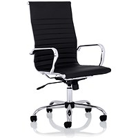 Nola High Back Leather Executive Chair - Black