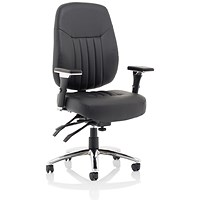 Barcelona Leather Operator Chair - Black