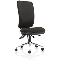 High Back Chiro Operator Chair - Black
