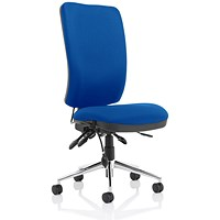 High Back Chiro Operator Chair- Blue