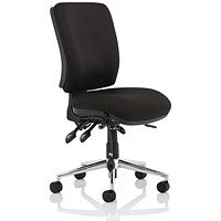 Medium Back Chiro Operator Chair - Black